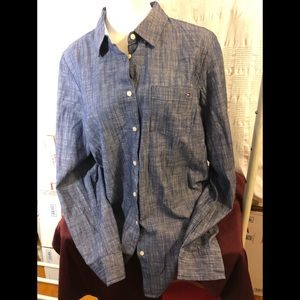 Tommy Hilfiger Cotton Chambray Shirt